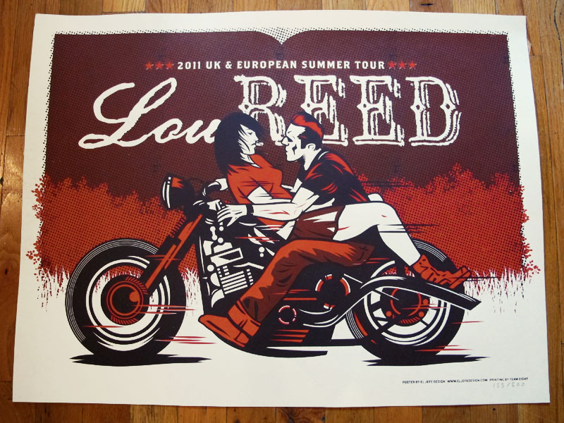 Lou Reed and the Tots 0363  Vintage Music Poster Art
